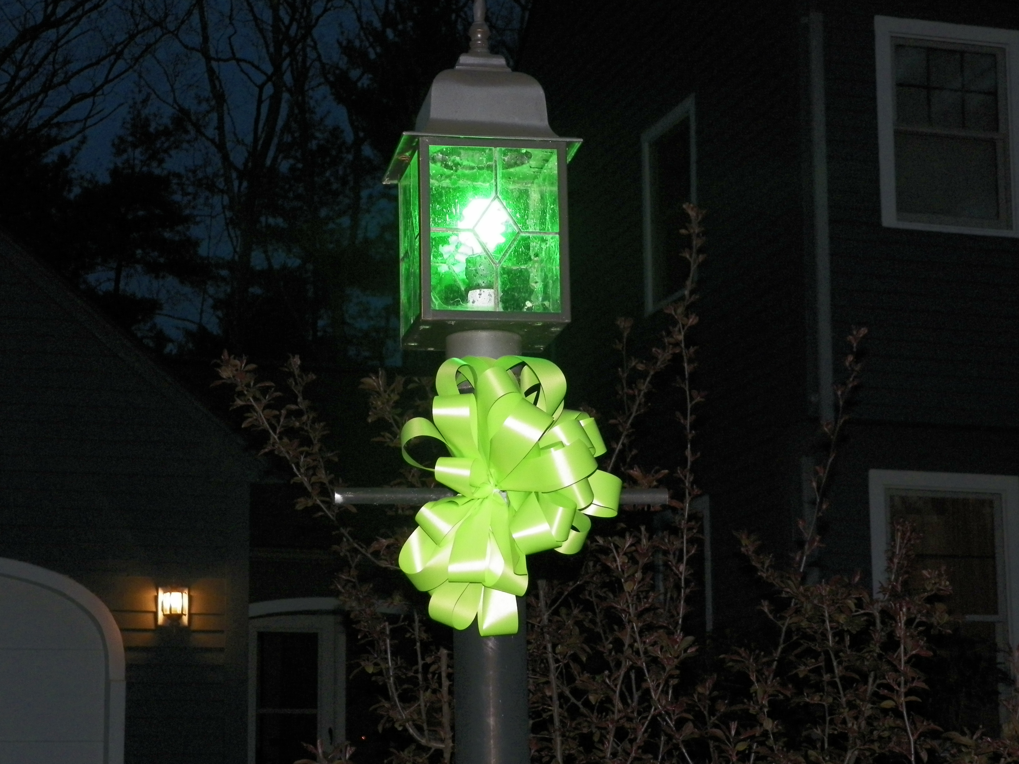 Ribbons Across America and Green Lights for Awareness!