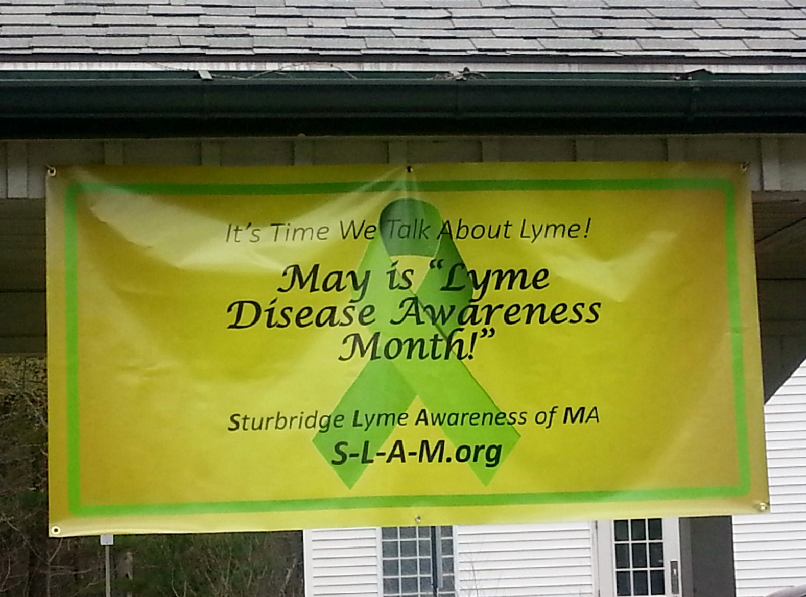 Banner @ Sturbridge MA visitor center May 2015